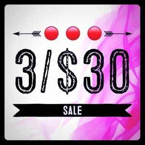 3/$30 Sale!!!!  Find 3 items priced $18 or Less